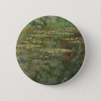 Waterlilies or The Water Lily Pond Nympheas 2 Inch Round Button