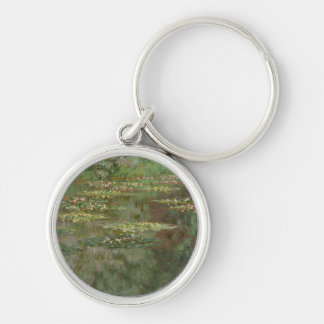 Waterlilies or The Water Lily Pond Nympheas Keychain