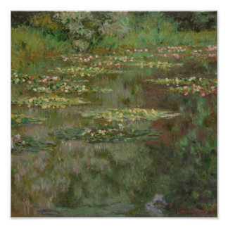 Waterlilies or The Water Lily Pond Nympheas Poster