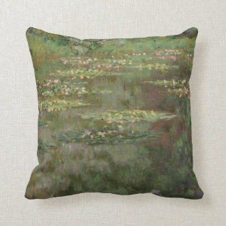 Waterlilies or The Water Lily Pond Nympheas Throw Pillow