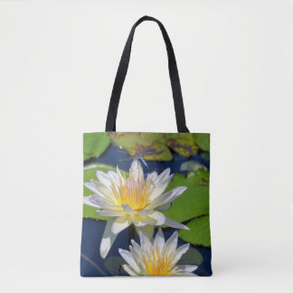 Waterlily and Dragonfly Photo Tote Bag