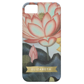 Waterlily and Gold Ribbon Custom Iphone case iPhone 5 Case