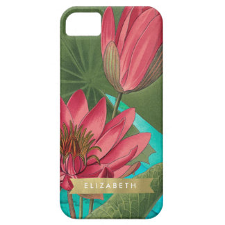 Waterlily and Gold Ribbon Custom Iphone case iPhone 5 Covers