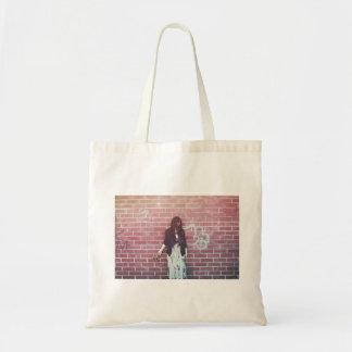 Waterlily Brooklyn Brick Red Wall Photo Tote Bag