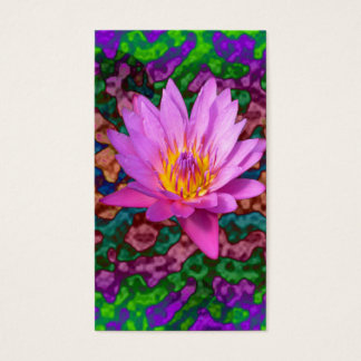 Waterlily Flower Business Card