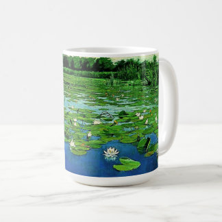 Waterlily Flowers Lilypads Water Garden Mug