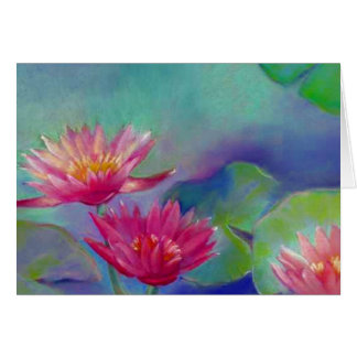 Waterlily flowers Pond waterlilies THANK YOU Card