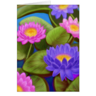 Waterlily Garden Card