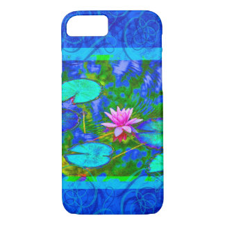 Waterlily Lotus Blossom in a Deep Blue Pond iPhone 8/7 Case