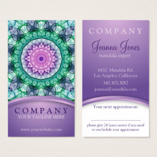 WaterLily Mandala appointment card