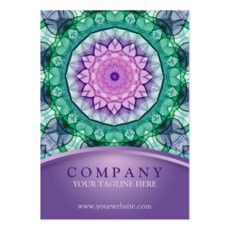 WaterLily Mandala Large Business Cards (Pack Of 100)