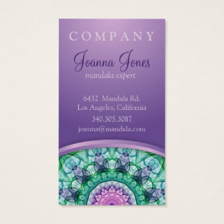 WaterLily Mandala Business Card