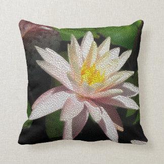 Waterlily Mosaic Throw Pillow