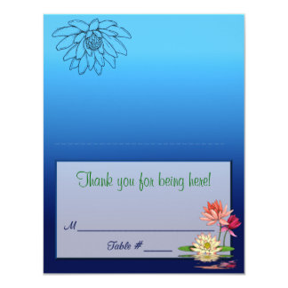 Waterlily Placecard Card