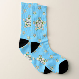 Waterlily Snowflake Pattern Socks