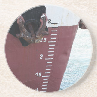 Waterline marked on the ship with scale numbering coaster
