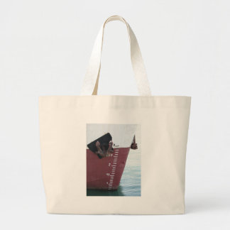 Waterline marked on the ship with scale numbering large tote bag