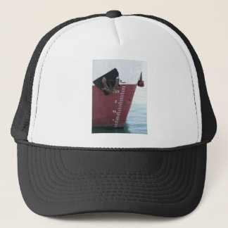 Waterline marked on the ship with scale numbering trucker hat