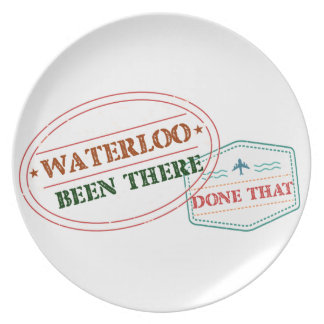 Waterloo Been there done that Plate