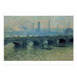 Waterloo Bridge, Grey Weather by Claude Monet Postcard