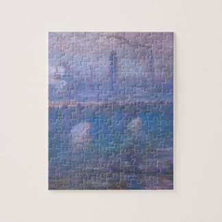 Waterloo Bridge, Misty Morning by Claude Monet Jigsaw Puzzle