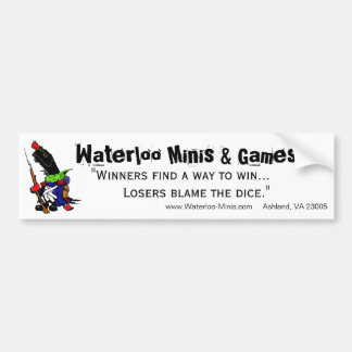 Waterloo Minis Game Shop Bumper Sticker. Bumper Sticker