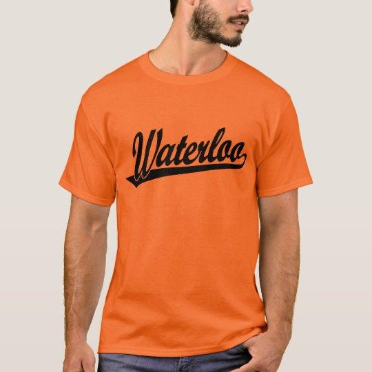 Waterloo script logo in black T-Shirt