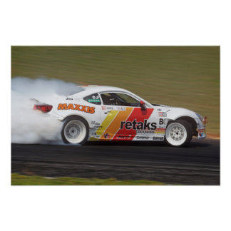 Watermark-free poster - Tuerck & his Scion FR-S