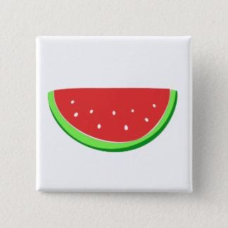 Watermelon 2 Inch Square Button