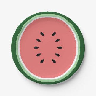 Watermelon 7 Inch Paper Plate