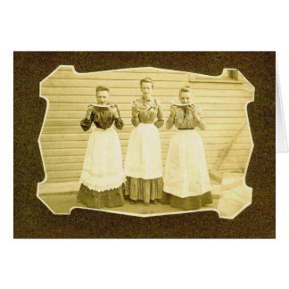Watermelon and Aprons Vintage Notecard