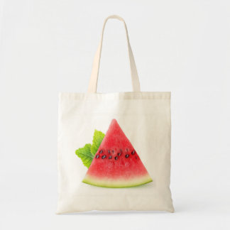 Watermelon and mint tote bag