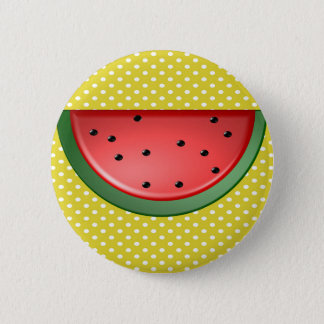 Watermelon and Polks Dots 2 Inch Round Button