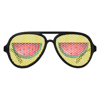 Watermelon and Polks Dots Aviator Sunglasses