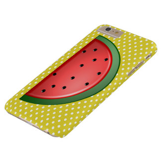 Watermelon and Polks Dots Barely There iPhone 6 Plus Case