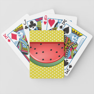 Watermelon and Polks Dots Bicycle Playing Cards