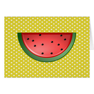 Watermelon and Polks Dots Card