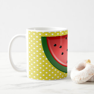 Watermelon and Polks Dots Coffee Mug
