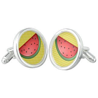 Watermelon and Polks Dots Cufflinks