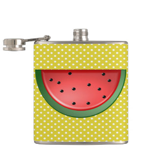 Watermelon and Polks Dots Hip Flask