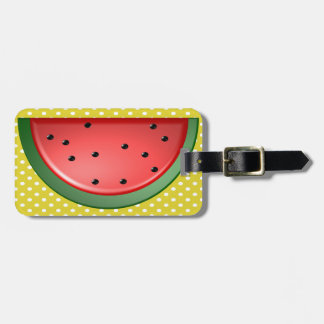 Watermelon and Polks Dots Luggage Tag
