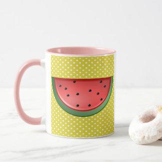 Watermelon and Polks Dots Mug
