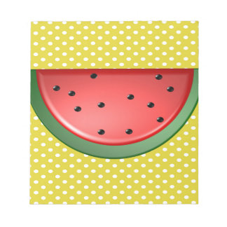 Watermelon and Polks Dots Notepad