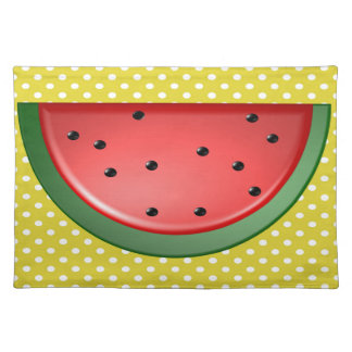 Watermelon and Polks Dots Placemat