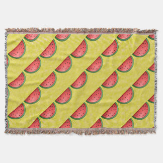 Watermelon and Polks Dots Throw Blanket