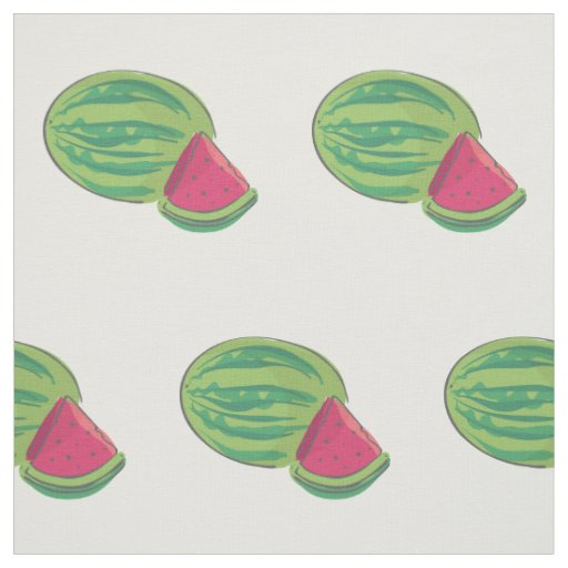 Watermelon and Slice Fabric