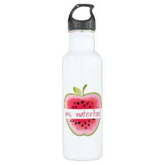 Watermelon Apple Personalized Teacher 710 Ml Water Bottle