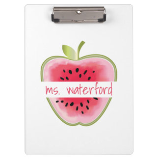 Watermelon Apple Personalized Teacher Clipboard