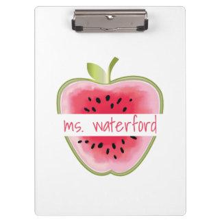 Watermelon Apple Personalized Teacher Clipboards