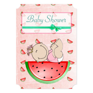 Watermelon Baby Shower Its a Girl  Invitations